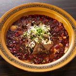 四川独特の香辛料で仕上げた「四川風牛肉ピリ辛煮 」