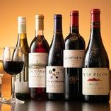 ボトルワインはリーズナブルな値段で全5種類取り揃えております