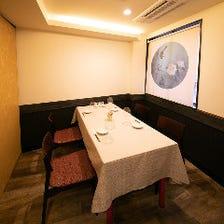 接待や食事会に最適な2~6名完全個室