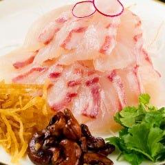 鯛のお刺身 チャイナ風
