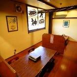 1階のお座敷は個室になっております。