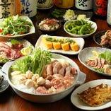【120分飲み放題付】博多地鶏水炊き鍋コース(博多一口餃子など全11品) 5,000円