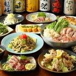 【貸切OK!120分飲み放題付】博多地鶏水炊き鍋コース(博多一口餃子など全11品) 5,000円