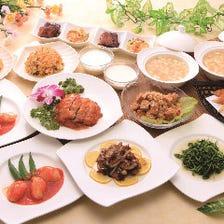 おすすめの炭焼き北京ダックに海老チリ、牛のやわらかステーキ『福コース』全10品|宴会