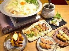【税込み3,000円】水炊き鍋&焼き鳥コース!新鮮な鶏ガラを長時間煮込んで作る白濁スープが絶品!