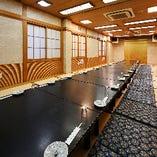 2階の個室を全てつなげると35~50名様までのお座敷広間となります
