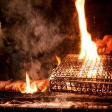 バラ焼きスタイル炭火炙り