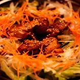 照り焼き鶏サラダ