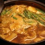 豆腐と鶏のチゲ鍋