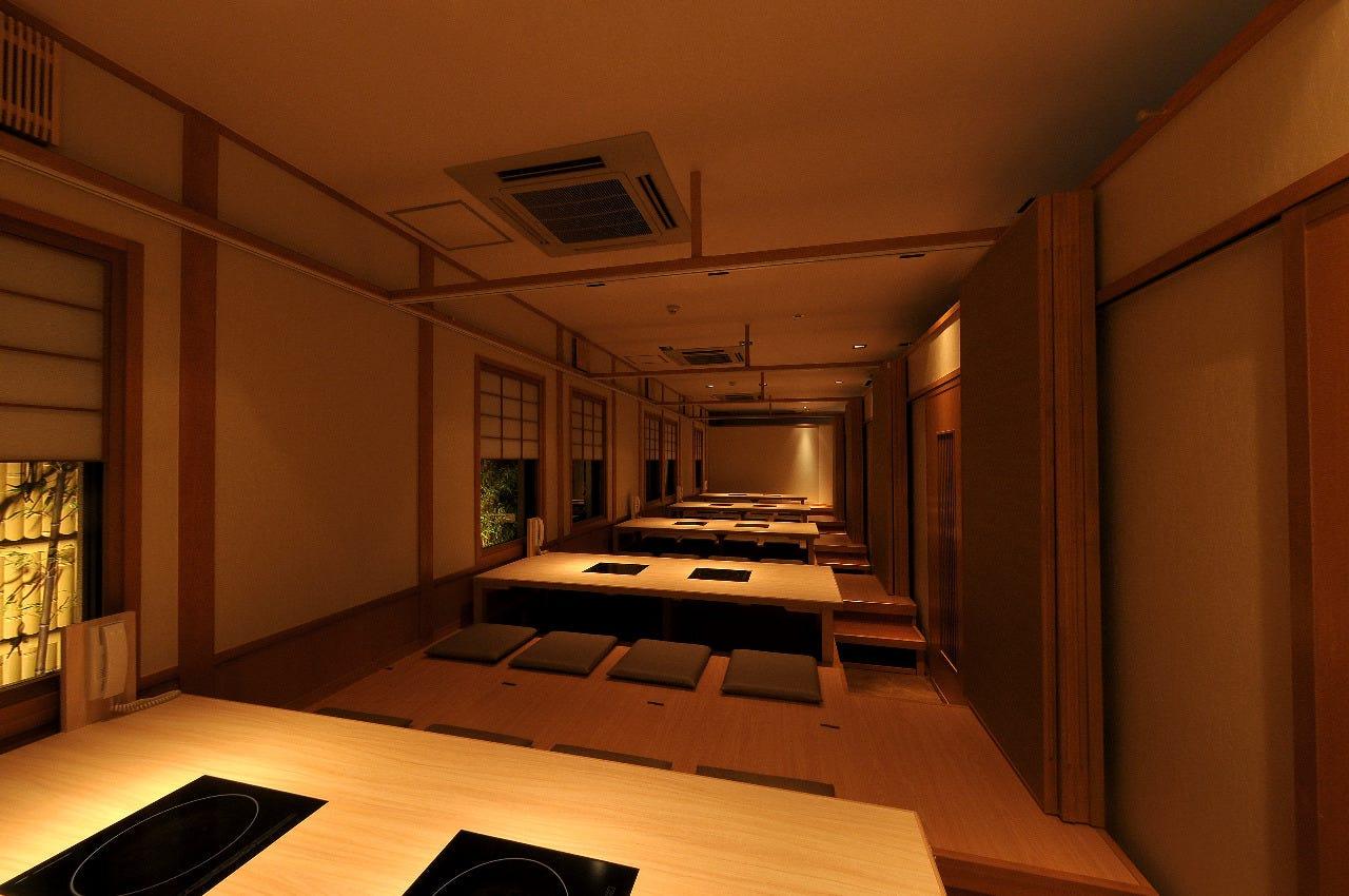 全室個室で40名様までの大個室も完備