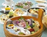 季節感を感じる昼御膳。 ランチは1,650円からになります。