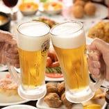 餃子など中華料理に相性抜群。鮮度が自慢の「生ビール」