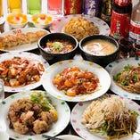 人気のエビのチリソース煮など本格中華と酒を楽しむお得な宴会コース「エビのチリソース、酢豚を味わえる・祥コース」