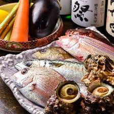 長浜の鮮魚市場から届く旬の魚介