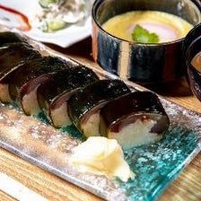 名物 鯛茶漬けに自慢のバッテラ寿司