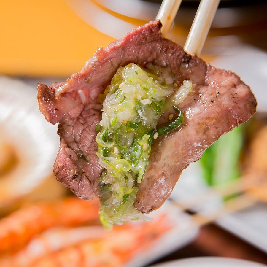 プラチナコースでは「ねぎ塩牛タン」が食べ放題!