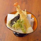 """「海御膳」のお刺身を""""天ぷら""""にも変更できます!"""