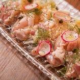 茨城県産 つくば鶏のカルパッチョ
