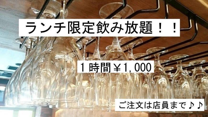ランチ限定飲放題始めました!!生ビール込み1時間¥1000♪♪