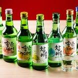 韓国のお酒が料理にぴったり。