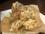 当店の『海老マヨ』はプリプリだけでなく衣がカリッ!フワッ♪としているのが特徴。菜菜やのカリフワ海老マヨを是非お召し上がりください!