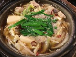 『牛もつ鍋』は10月〜3月の期間限定商品。鍋の中ではきりたんぽ鍋に次いで人気No.2の人気があります!
