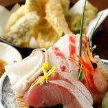 さかなさま お刺身・天ぷら御膳