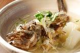【地魚の珠洲塩煮付け】北陸直送の天然地魚と奥能登の珠洲塩でシンプルに煮漬けます。