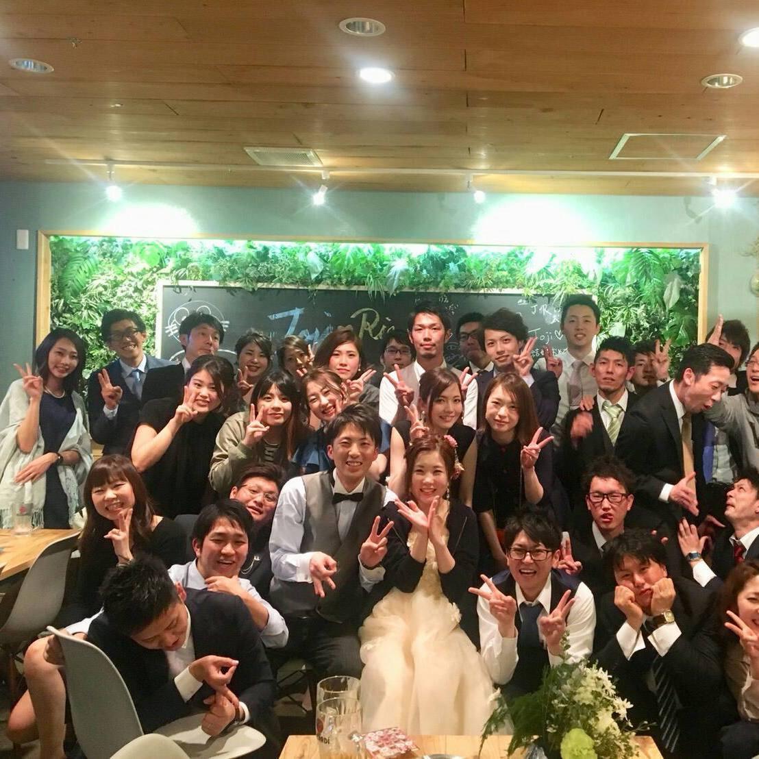 結婚式2次会プラン3時間飲み放題付き☆4,200円(税込)