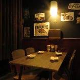 自分たちの空間でゆっくりとお食事♪カーテン仕切りの半個室