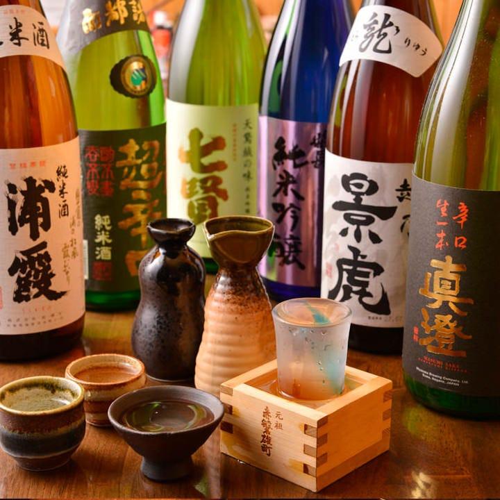 「日本酒&地酒」常時16種以上!