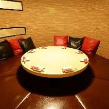 記念日、女子会に人気の円卓個室