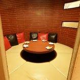 人気の円卓席個室は2部屋完備!お早目のご予約をお願い致します