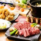 炙り寿司や溶岩焼きなど贅沢な霜降り肉「飛騨牛」をご堪能下さい