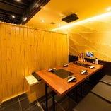 2~6名 半個室テーブル席【オーダー用タブレット全席完備】