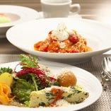 Delizioso(2番めのコース):前菜とパスタがお選びいただけます。