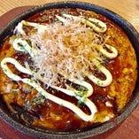 タコと山芋の鉄板焼き