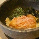 しらす明太子バターの石焼き飯