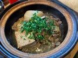 熱々肉豆腐