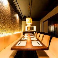 新宿宴会に♪和の照明が包む完全個室