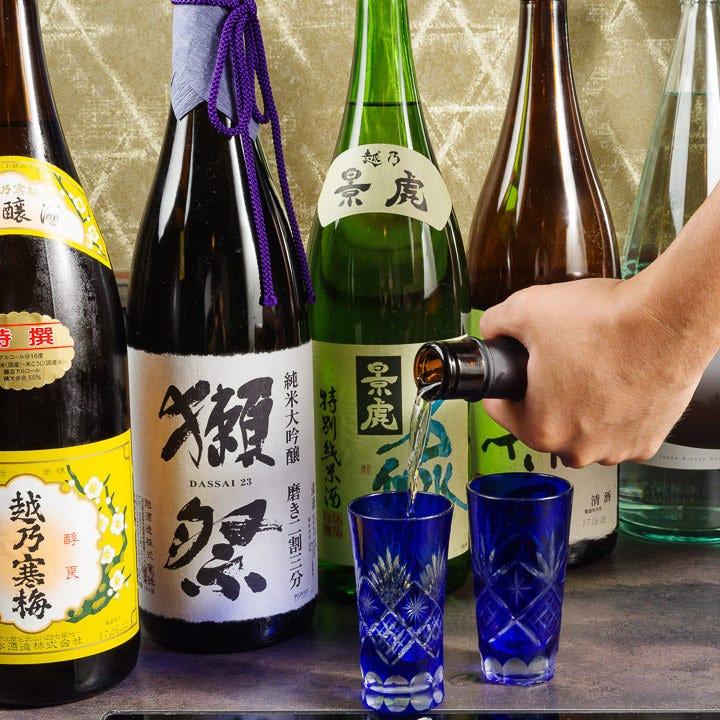 日本酒&焼酎多数◇美酒に酔いしれる