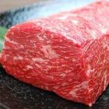 [厳選食材] 肉料理も絶品。牛肉はA4ランク以上黒毛和牛のみ使用