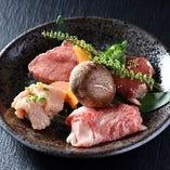 これぞ極上の肉!特選四種盛合せ!大人のお食事にぜひ!
