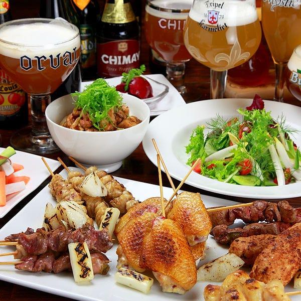 ビールと料理のマリアージュが楽しめるコースもございます。