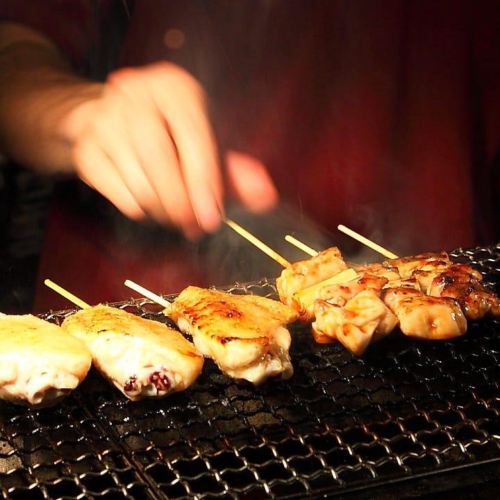 兵庫県の丹波鶏を使用した焼鳥は、ビールとの相性抜群!