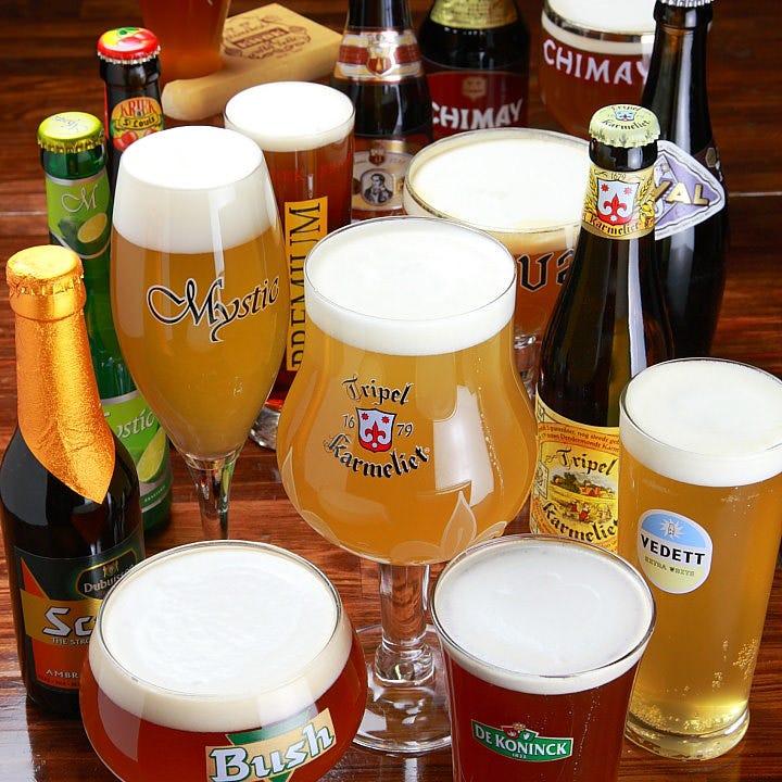 ベルギービール専門店だからできる品揃え!