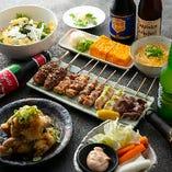 【お料理のみ】なかいのイチオシ お料理コース 人気メニューと焼き鳥を堪能♪デザート付