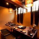 テーブル席完全個室(2~4名様×2部屋)繋げて〜10名様までの個室利用が可能