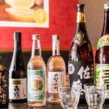 九州料理と相性抜群な焼酎を厳選。ぜひお召し上がりください