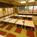 2階お座敷掘りごたつ席は貸切可能(~45名様)